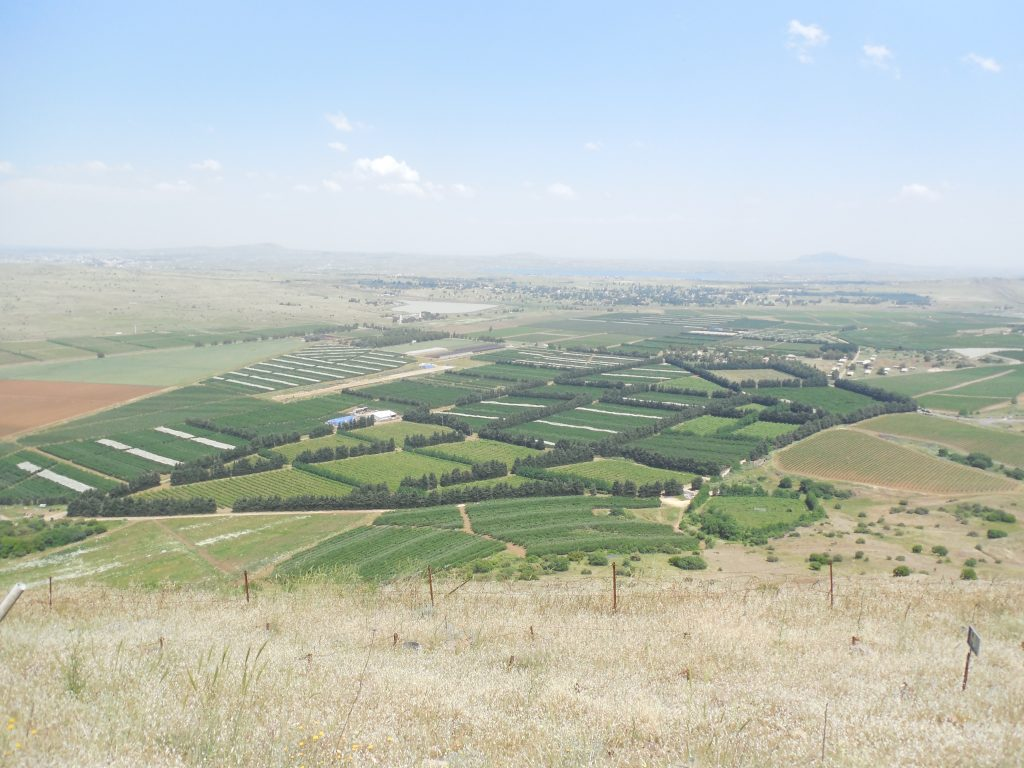 Farmland in Syria, as seen from the Golan Heights in Israel